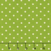 Linen Mochi Dot - Dot Fresh Grass Linen Yardage