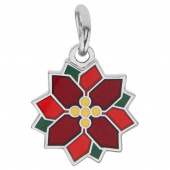 Patched Poinsettia Charm