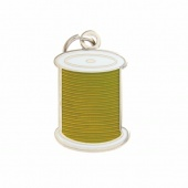 Spool Charm Green by Pin Peddlers
