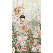 Peony Dance - Peony Garden Continuous Digitally Printed Panel