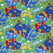Dino Parade - Dino March Multi Yardage