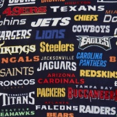 NFL Fleece - All Teams Fleece Navy Yardage