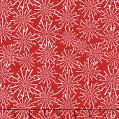 Patriotic Picnic - Fireworks Red Yardage
