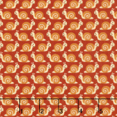 Camp - A - Long Critters - Snails Dark Orange Yardage