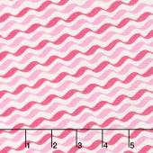 Love Grows - Romantic Ribbon Passion Pink Yardage