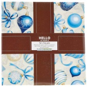 Holiday Flourish 10 Blue Ten Squares