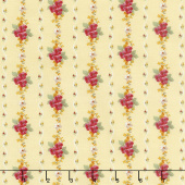 Farmhouse Floral - Stripe Yellow Yardage