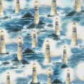Thomas Kinkade - Allover Light of Peace Multi Digitally Printed Yardage