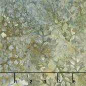 Sunset Strip Batiks - Delicate Leaves Blue Gray Yardage