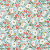 Tea with Bea - Floral with Bea Sky Yardage