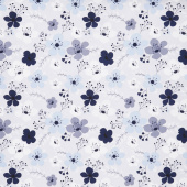 Something Borrowed - Floral Main Gray Yardage