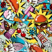 Nicole's Prints - Midnight Snack Brite Multi Yardage
