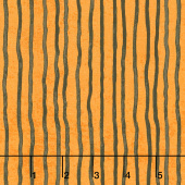 Goosetales - Wavy Stripes Orange Yardage