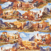 Wild Wild West - Wild Horse Collage Multi Yardage