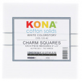 Kona Cotton - White Charm Pack