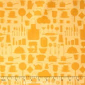 In the Kitchen - Silhouettes Butter Yardage