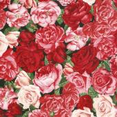 Rose Garden - Packed Roses Rose Yardage