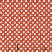 Merry Go Round - Double Dots Red Yardage