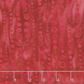 Cherry Sweet Batiks - Dotted Stripe Red Yardage