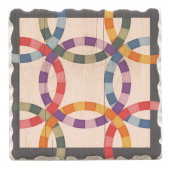 Barn Quilts Coaster - Double Wedding Star