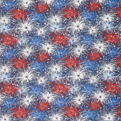 Liberty Lane - Fireworks Navy Yardage