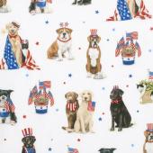 Red, White, and Blue - Pets Americana Yardage