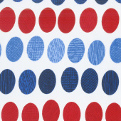 "Oval Essence - Patriotic 108"" Wide Backing"