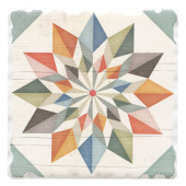 Barn Quilts Coaster - Hex Star