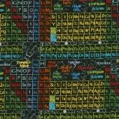 Novelty - Periodic Table Charcoal Yardage