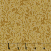 "Morris Holiday 1897 - Thistle Gold 108"" Wide Metallic  Backing"