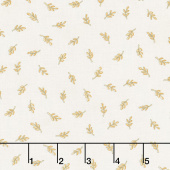 Happy Fall - Tossed Wheat Farmhouse White Yardage
