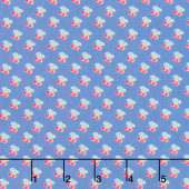 Cherry Lemonade - Rows of Cherries Blue Yardage