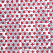 Lost and Found America - Americana Dots Red Yardage