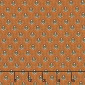 Cheddar & Chocolate - Tear Drop Rust Yardage