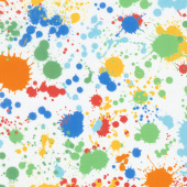 "Splatter Wide - Paint Bright 108"" Wide Backing"