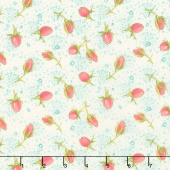 Abby Rose - Rose Buds Cream Yardage