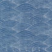 Sashiko - Waves Denim Yardage