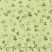 Wild Rose - Leaves Green Flannel Yardage