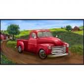 Country Paradise - Red Truck Panel