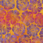 Artisan Batiks - Totally Tropical Hibiscus Sunburst Yardage