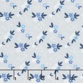 Blue Stitch - Ditzy Gray Yardage