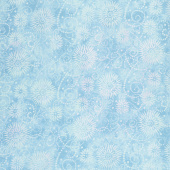 "Wilmington Essentials - Flower Burst Blue 108"" Wide Backing"