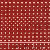 Star & Stripe Gatherings - Border Stars Red Yardage
