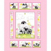Mama Lal - Sheep Quilt Pink Panel