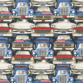 All American Road Trip - Cars and Trucks Navy Yardage