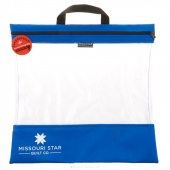 "Missouri Star's SEEYOURSTUFF Bag 16"" x 16"" - Royal"