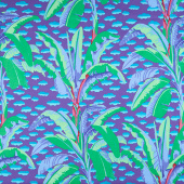 Kaffe Fassett Collective - February 2021 Cool Banana Tree Purple Yardage