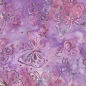 Royal Treatment Batiks - Butterflies Light Purple Yardage