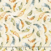 Forest Dance - Feather Toss Cream Yardage