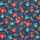 Wildflower Boutique - Wildflower Navy Yardage